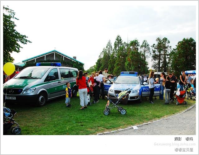 德国的儿童节:消防车,警车体验
