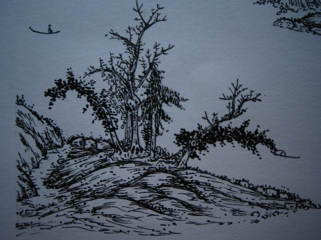 小学生山上风景笔画