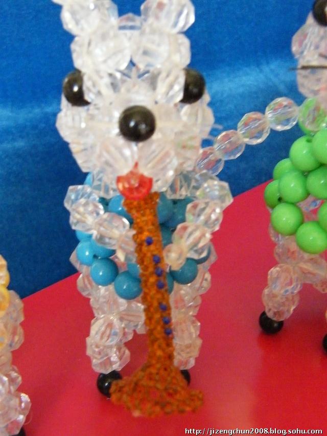 鼠年的串珠工艺品----老鼠取亲
