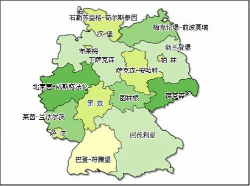 德国地图1.(各州位置)