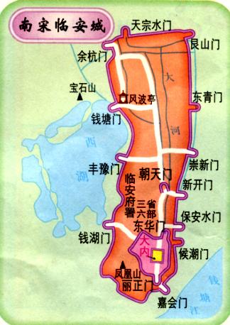 """我随便在百度地图搜索了一下""""从宋城景区到庆春路"""""""