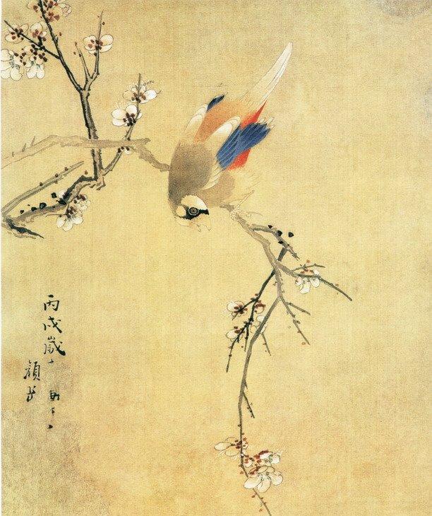 颜岳《花鸟图》