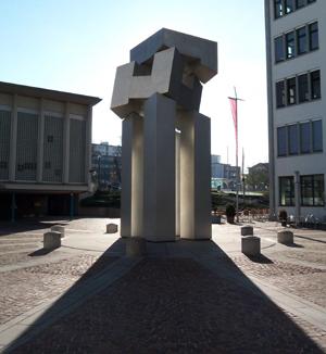 德国斯图加特柏林人广场雕塑图片