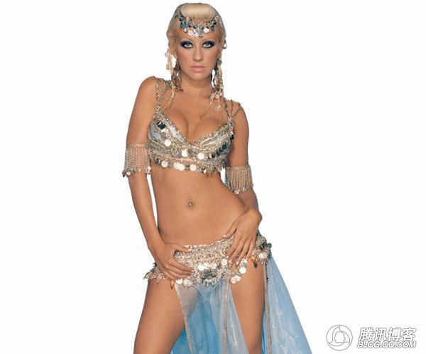 古代红衣妖娆手绘女子跳舞