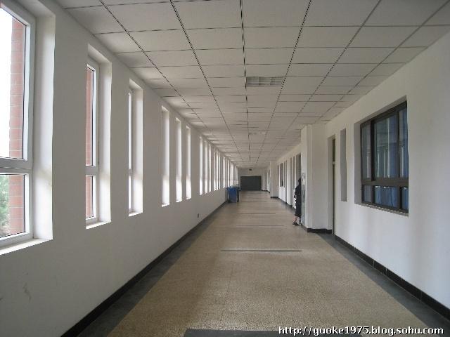 这是四号教学楼三层的楼道,通透 每一层楼道都是不同的设计   整装