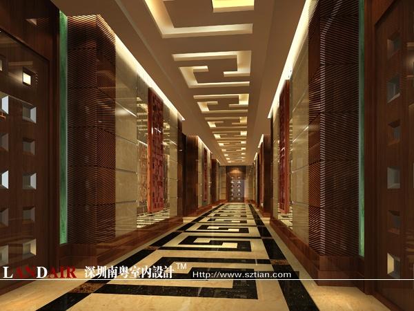 茶餐厅走廊效果图