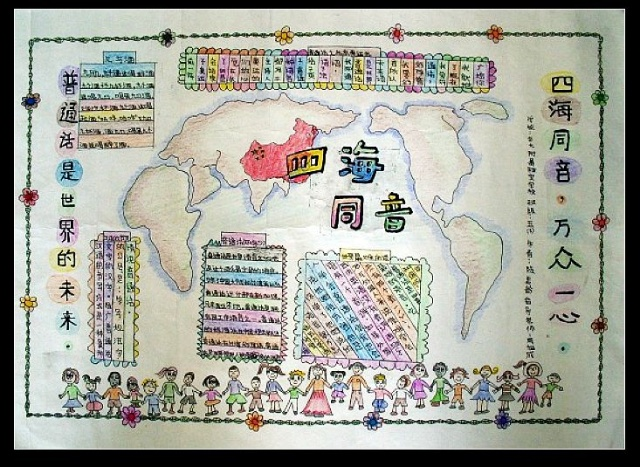 幼儿园普通话手绘海报