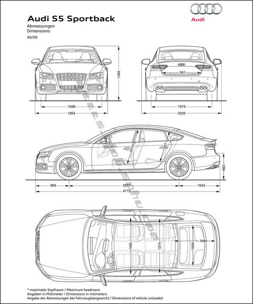 奥迪a5 sportback车架结构示意图