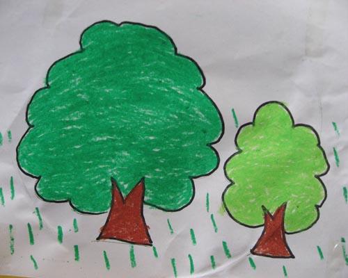 小树简笔画图片